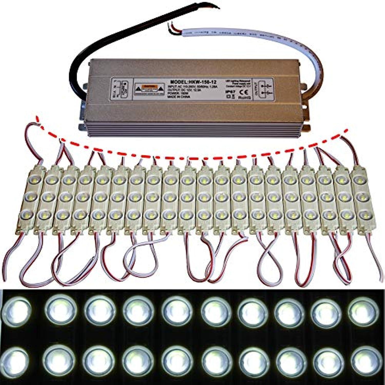 10x-100x LED Module +- Netzteil - kaltwei 12`000K - 12V - 3X 5730 SMD Werbung (100x mit Netzteil)