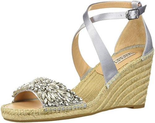 Badgley Mischka Women's Scarlette Espadrille Wedge Sandal, Silver, 8.5 M US