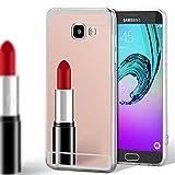 United Case Estuche para Samsung Galaxy A3 (2016) | Efecto Espejo En Oro Rosa | Funda De
