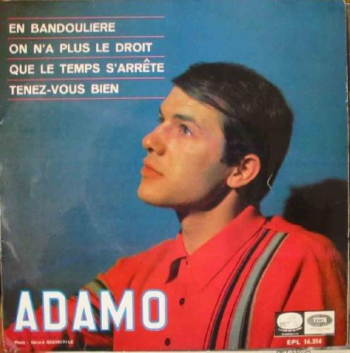 Antiguo Vinilo - Old Vinyl : ADAMO : En bandouliere; On n'a...