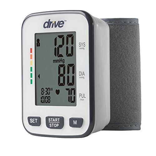 monitor with blood pressures Drive Medical Automatic Deluxe Blood Pressure Monitor, White, Wrist
