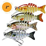 Fishing Lures for Trout Bass 2' Mini Sunfish Tilapia Lure Multi Jointed Swimbaits Slow Sinking Hard Lure Fishing Tackle Kits Lifelike