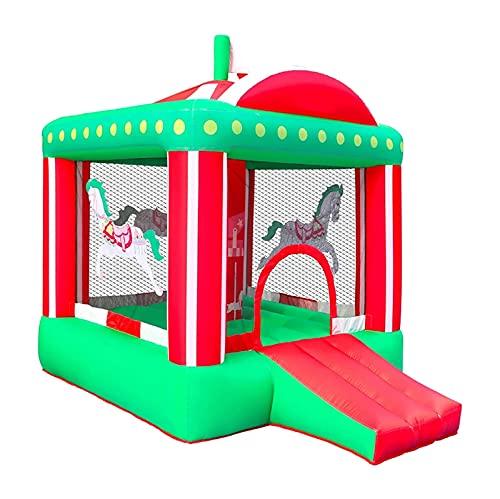 ZCYXQR Pequeño Circo Inflable Castillo Hinchable casa saltarina Parque para niños Interior BackGame Divertido Parque de Juegos para Fiestas Trampoli (Entretenimiento al Aire Libre)