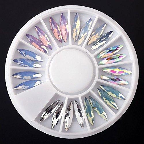 Shyymaoyi Acryl-Nagelkunst, 3D-Glitzer-Charms, künstliche Strass-Spitzen, DIY-Nagelkunst, Deko-Zubehör