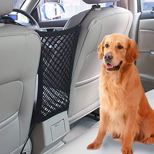 VIKEY Auto Organizer Netztasche - Universal KFZ Auto Netz Tasche Auto Rücksitz Ablagenetz Dehnbar Car Netz Barrier zwischen Autositzen mit Halter für Kinder und Haustiere