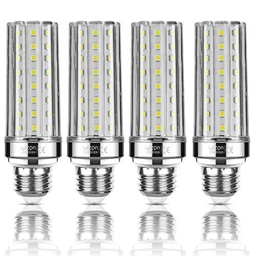 Yiizon LED E27 20W lampadine a candela, 150W equivalenti a incandescenza, 6000K Bianca Freddo Lampadine Candelabri E27, 2000LM, Vite Edison Lampadine Mais 4-Pacco