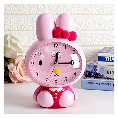 Despertador Lindo reloj de alarma de pingüinos para niños y estudiantes con dormitorio de mudos de noche reloj despertador Snooze Pequeño despertador Radios reloj ( Color : S , Size : 7 inches )