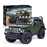 PEXL Juego de construcción de bloques de construcción para vehículos todoterreno Jeep Wrangler Offroader, 2000 bloques de construcción Technic 4x4, modelo Off-Road compatible con Lego Technic
