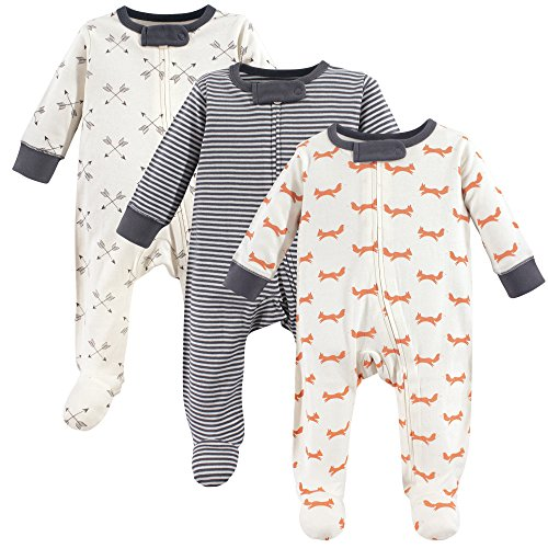 Touched by Nature Baby Organic Cotton Sleep and Play, fox, 0-3 Months