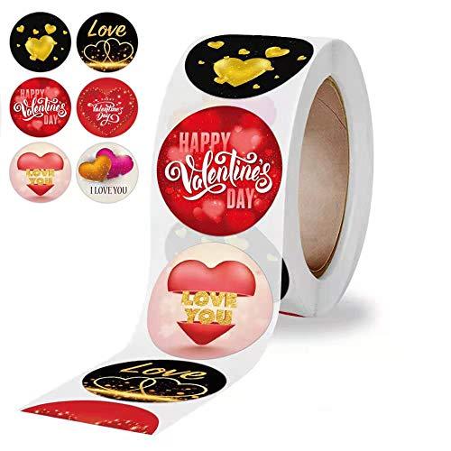 Pegatinas del pegatinas de corazón, etiquetas adhesivas para el día de San Valentín, corazones para manualidades, álbumes de recortes, sobres, tarjetas, decoración de regalos para bodas-500 PCS