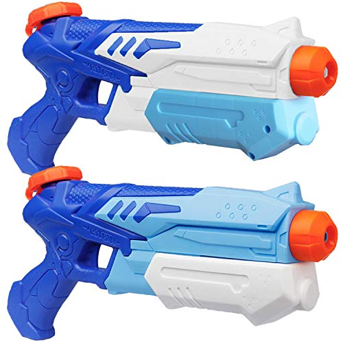 heytech 2 Pack Water Gun Squirt Guns Water Blaster 300CC High Capacity Water Soaker Blaster Squirt Toy Swimming Pool Beach Sand Water Fighting Toys