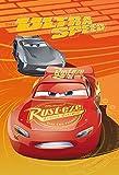 Coperta Manta Cars Rayo McQueen Jackson Storm Disney Pixar en Pail (poliéster), 100 x 150 cm, color naranja - 55892