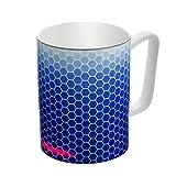 Glowstone Heated Coffee Mug. Classic Range. Smart Automatic Technology, Wireless Power, 12 Ounce, Dishwasher Safe, 100% Fine Bone China. (Honeycomb)