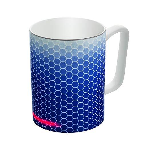 Glowstone Taza de café calentada. gama clásica. Tecnología automática inteligente, alimentación inalámbrica, 12 onzas, apta para lavavajillas, 100% porcelana fina (panal)