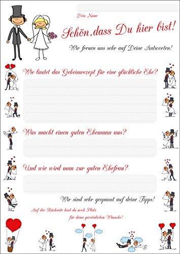 Edition Colibri, 52 ansichtkaarten voor bruiloftsspel, set 1,