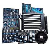 Chrono XL Werkzeugwagen bestückt | 7 Schubladen, 6 gefüllt mit Werkzeug | mit Rollen | Set inkl....
