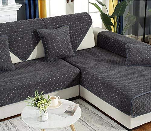 HXTSWGS Cojín de Tela para sofá, Funda de sofá nórdica Antideslizante de Invierno, Funda de Toalla de sofá Gruesa de felpa-A17_110 * 180cm