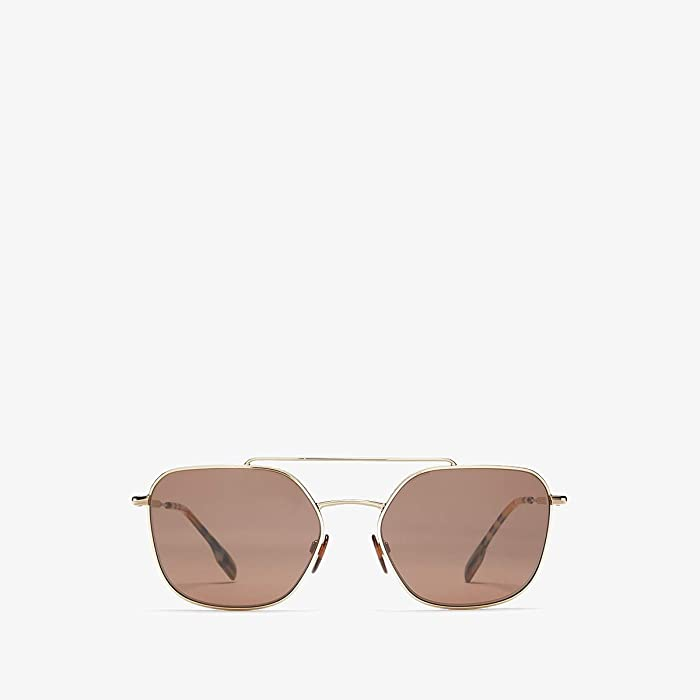Burberry  0BE3107 (Light Gold/Brown) Fashion Sunglasses
