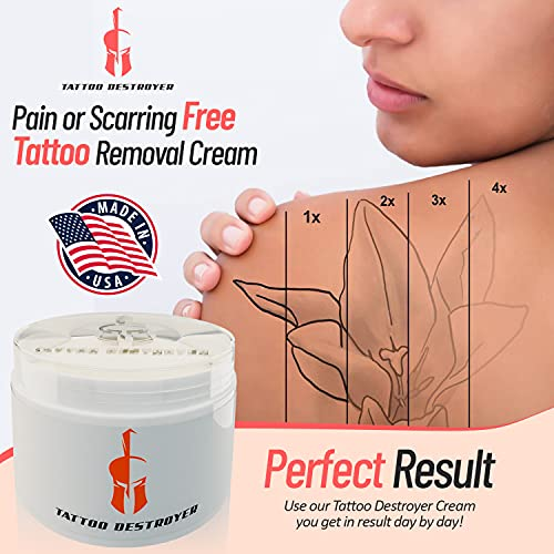 Tattoo Removal Cream Natural Fading system wrecking balm 4 week spartan perform