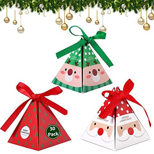 30pcs Cajas de Caramelos, Cajas de Regalo para Golosinas Dulces Galletas, Bolsas de Regalo con Cintas para Regalo Decoración