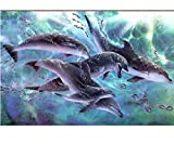 YOBAIH 1000 Piezas Rompecabezas Madera niño Puzzle Pez delfín Adultos Juegos Infantiles Art Painting Puzzle