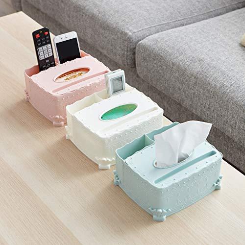 AMhomely® Multifunktionale Tissue-Box Lagerregal - Multifunktionsdesktop-Schmutz-Speicher-Organisator-Kasten für Serviette, Make-up-Gerät Tischdekoration, Geschenk (Blau)