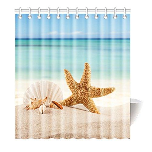violetpos Rideau de douche mer soleil plage Sky haute qualité Salle de bains, Polyester, 160 x 180 cm