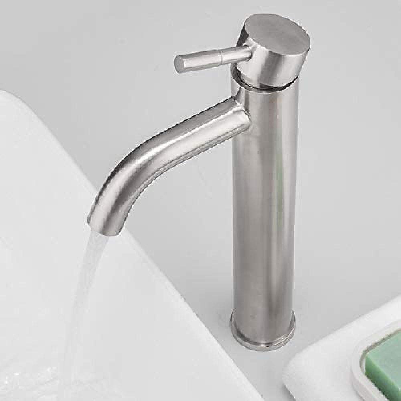 Wasserhahn-Edelstahl Becken Wasserhahn Einhand Waschbecken Wasserhahn Hochwertige Badezimmer Einhand Wasserhahn Dual Control Tap