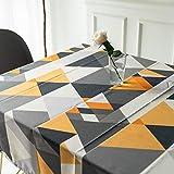 Mantel para Mesa Patrón de Triángulo Geometría de Cocina Salón Rectangular Impermeable Lavable Diseño de Comedor Decoración del Hogar Oficinas (55 * 79in/140 * 200cm)