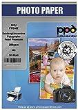 PPD A3 Carta Fotografica Premium Satinata Per Stampanti Ad Inchiostro, 200gsm, 50 fogli - PPD-82-50