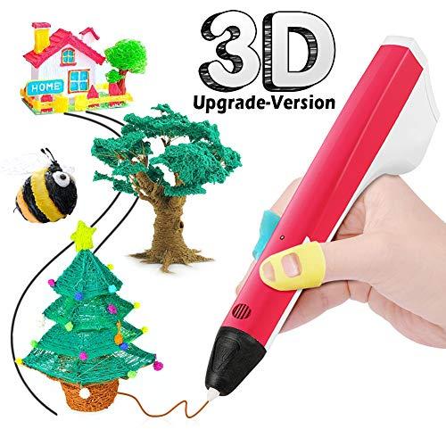 THZY 3D Plumas para Impresión, 3D Pluma Inteligente Estereoscópica para Diseños con Cable USB y 2...