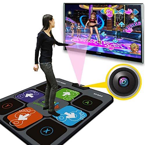 Alfombrilla De Pista De Baile con Gamepad Alfombrilla De Música Antideslizante Alfombrilla De Baile para Ordenador De TV para Adultos/Niños
