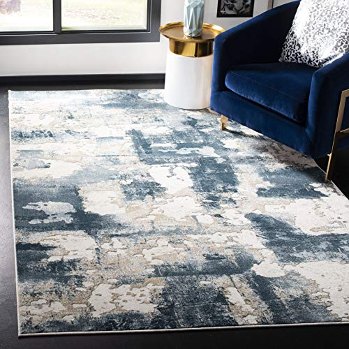 Safavieh Vogue Collection VGE142B Area Rug, 4' x 6', Beige/Turquoise