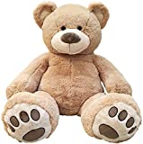 """Anico 59"""" Tall (5 Feet) Giant Plush Teddy Bear with Embroidered Paws and Smiling Face, Fits in 2XL Shirt!"""