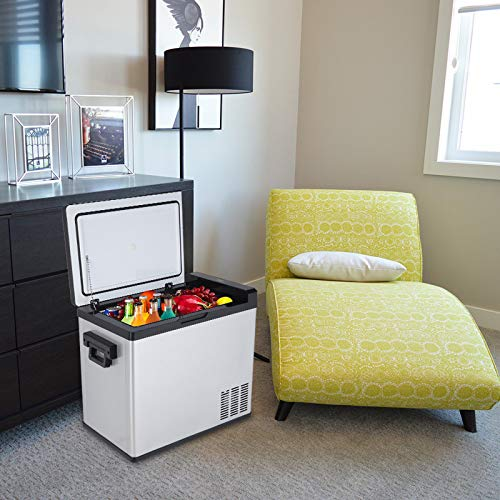 Rabbfay Compressor Touch Screen Car Refrigerator Stainless Steel Portable Fridge Freezer,1