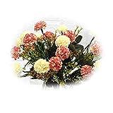 Funight Ramo de flores artificiales de 7 cabezas de hortensias de seda realista ramo de flores falsas para el hogar, decoración de boda, arreglo de fiesta, decoración de muebles de color naranja