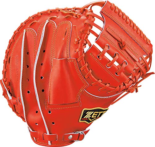 ZETT(ゼット) 軟式野球 プロステイタス キャッチャーミット 新軟式ボール対応 ディープオレンジ(5800) 右投げ用 BRCB30922