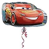 amscan 3537001 Cars Folienballon Lightning McQueen, Mehrfarbig