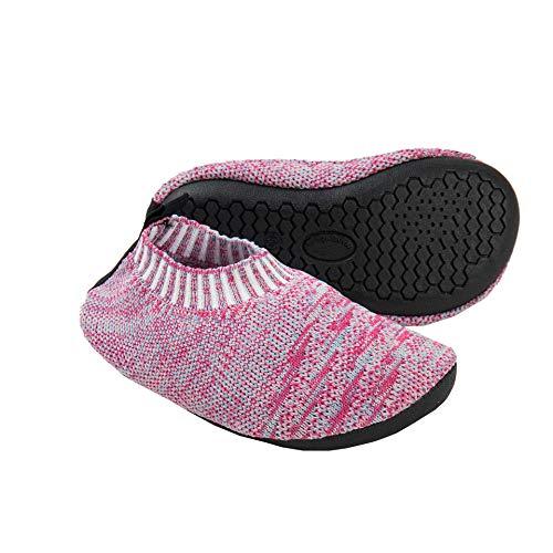 Ruiuzioong Hausschuhe Damen Herren Leichte hüttenschuhe rutschfest Flache Pantoffeln Home Cozy Slippers Unisex (Rosa, 220)