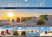 BORKUM-LIEBE (Wandkalender 2022 DIN A3 quer): Landschaftlich bezaubernde Inselwelt (Monatskalender, 14 Seiten )