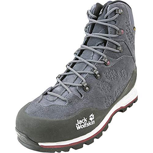Jack Wolfskin Wilderness XT Texapore Mid W Wasserdicht, Chaussures de Randonnée Hautes Femme, Gris (Ebony/Burgundy 6239), 41 EU