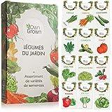 Kit de graines de légumes prêt à pousser OwnGrown, 10 légumes incontournables à...