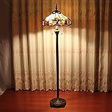 TOYM 16 pulgadas Tiffany cálida outlet lámpara amarilla salvaje europeo suelo de cristal den dormitorio sala de estar retro hecho a mano