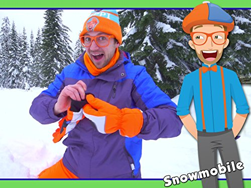 Snowmobile in the Snow with Blippi - Winter Outfit for Kids
