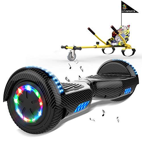 MARKBOARD Hoverboard con Silla, Scooter autoequilibrado con Hoverkart 6.5 Pulgadas...