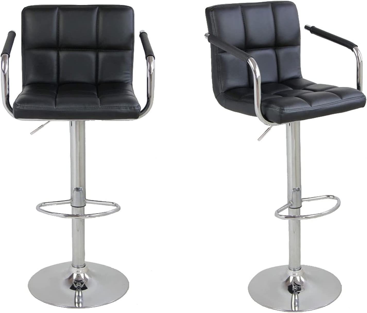 Trlec Luxury goods gt4-ly 2 pcs 60-80cm 6 Bar Round Stools Checks Cushion Be super welcome wit