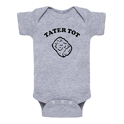 Instant Message Tater Tot-Infant One Piece-NB Athletic Heather