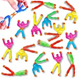 Liberty Imports 72 Pack Sticky Stretchy Wall Climbers Window Crawlers - Party Favor Tricky Novelty Toys Climbing Rolling Men for Kids