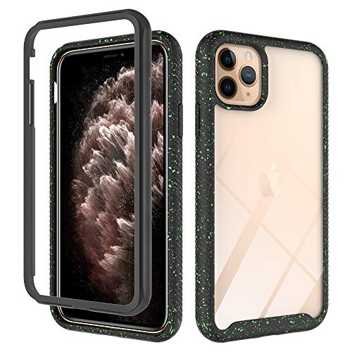 iEugen Compatible with iPhone 11 PRO MAX Case 6.5 Inch (2019) 2 in 1 Gel Rubber Heave Duty Protection Shockproof Cover Case Drop Protection Case for iPhone 11 PRO MAX [Black]
