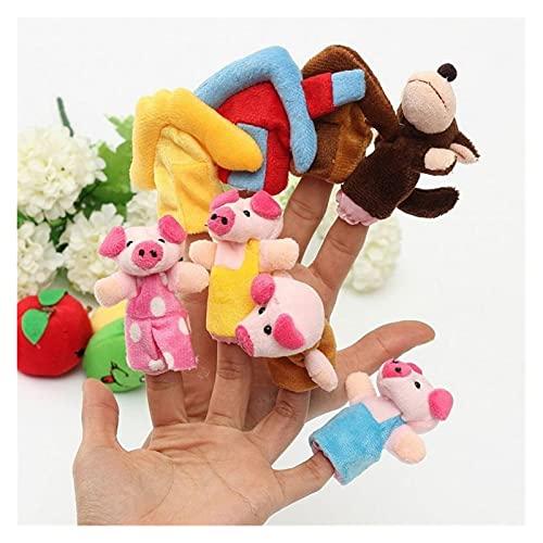 Handpuppen 8 Teile/Satz Tier Finger Puppen 3 kleine Schweine Märchen Handpuppe Plüschtier Spielzeug Cartoon Nette Boll Kinder Geschenk Spielzeug Dekoration